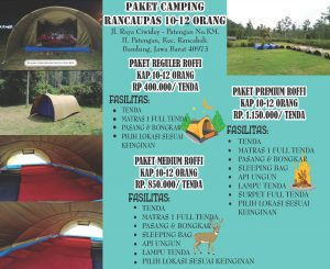 Ranca upas Paket Camping